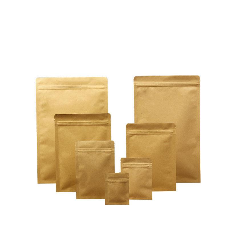 Zipper top brown kraft paper bag for dried fruit packing