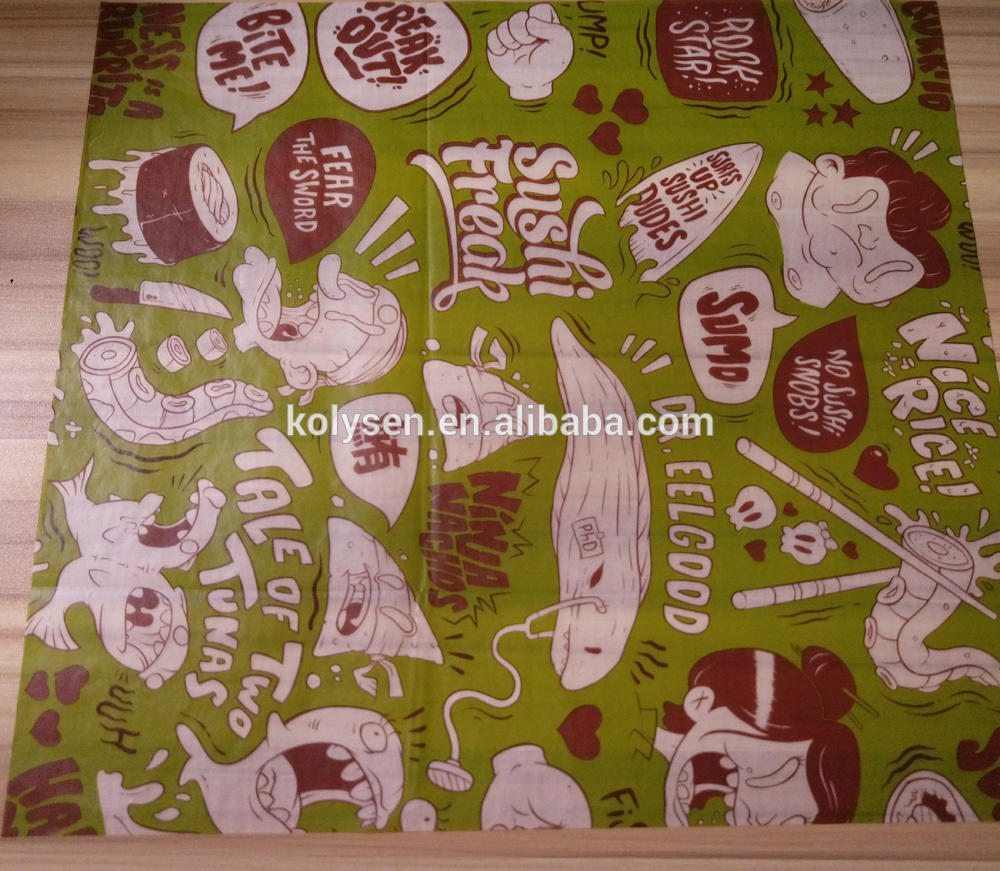 Custom logo wax paper
