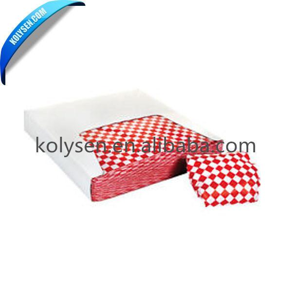 100% Virgin Pulp Reusable Hamburger Wrapping Paper