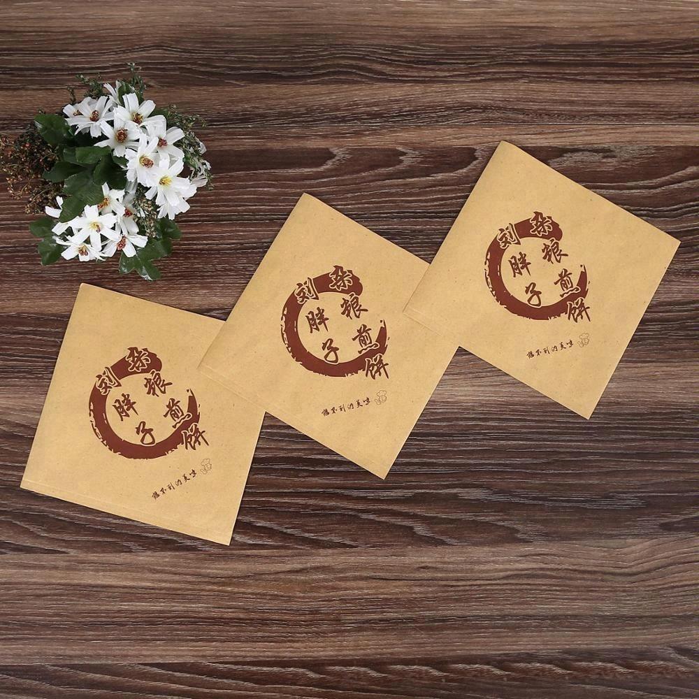 Custom Food Grade Grease Proof Double Open Burger Wrap Pocket Paper Sandwich Bags