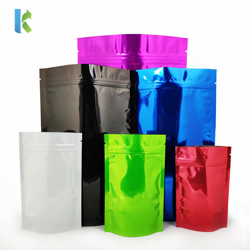 wholesale cheap colorful aluminum foil stand up zipper pouch bag