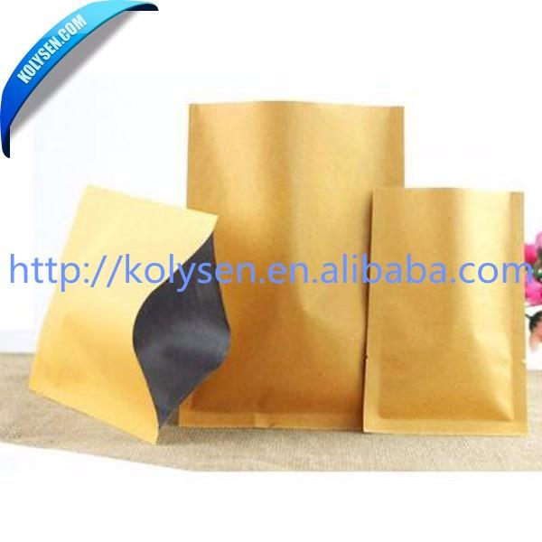 three side inner aluminum foil kraft paper bagsfor food packaging