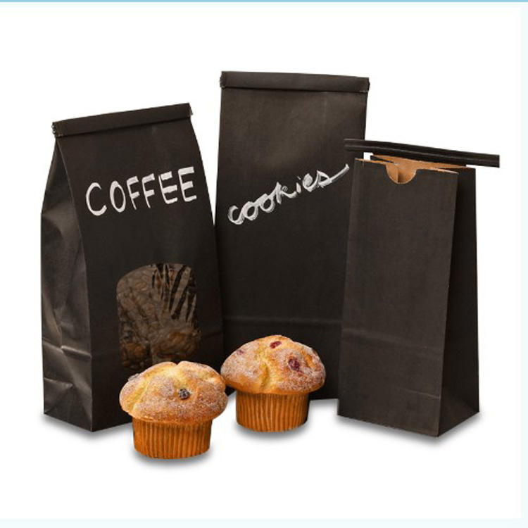 Kolysen Custom Printed Laminated packing Paper Pouches Coffee Bags With Tin Tie