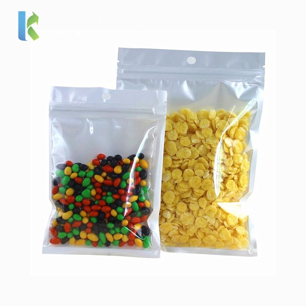 factory wholesale transparent window pearl film flat bottom package bag