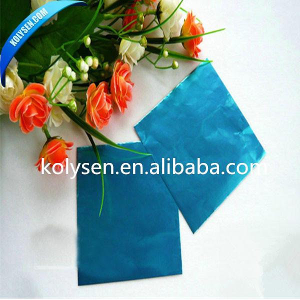 Disposable chocolate aluminum foil sheets