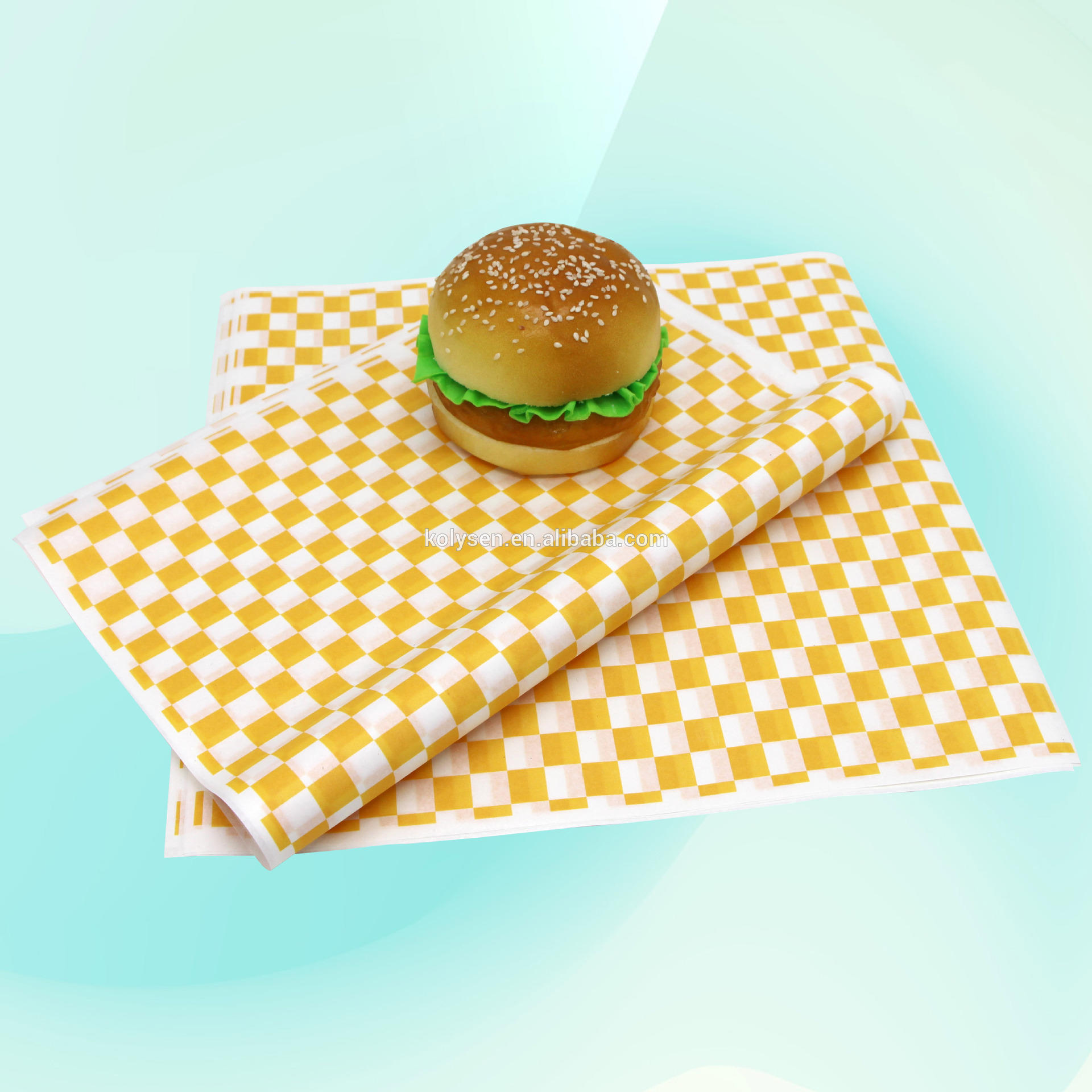 custom printed greaseproof wrapping burger paper