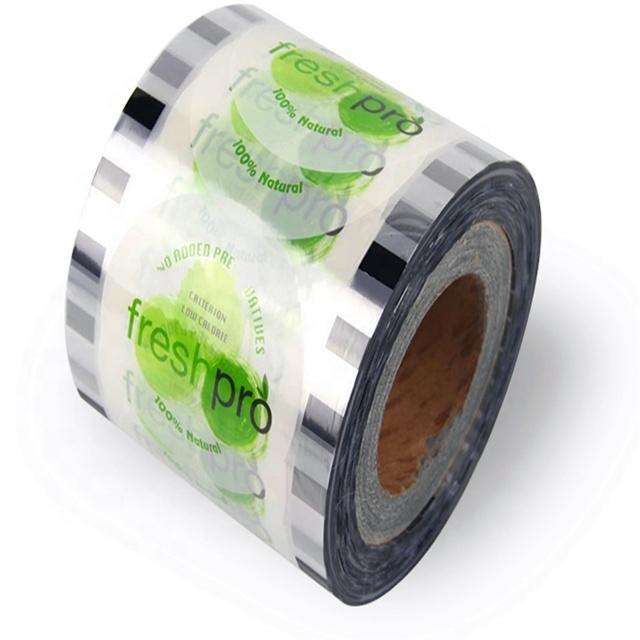 KOLYSEN plastic cup with aluminum foil lids for yogurt