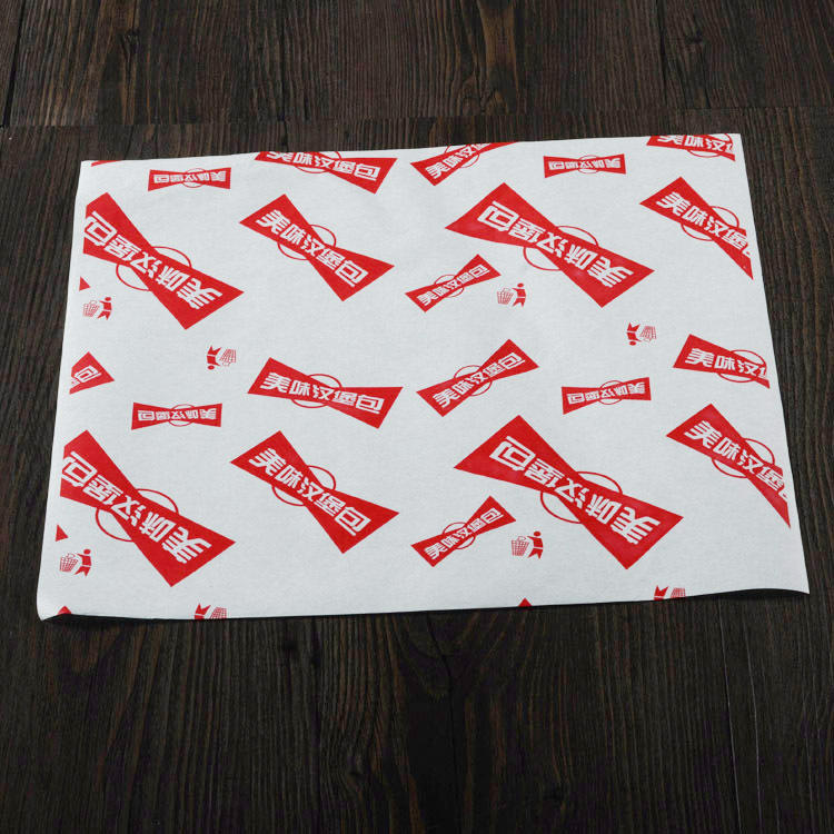 Custom Greaseproof Paper Printed, Food Wrapping Paper Greaseproof, Brown Greaseproof Paper