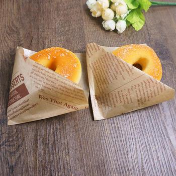 Custom printed food grade Sandwich hotdog deli wrap carryout packaging bag Wholesale