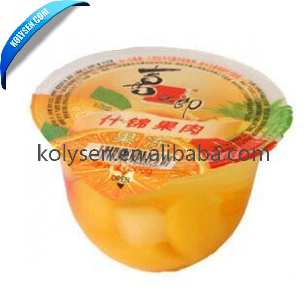 Plastic Cup/Bottle Aluminum Foil Peelable Lidding Film Lid Sealing Film