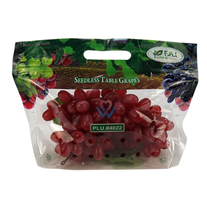Custom printed food grade grape packaging bag Table grape packaging bag factory