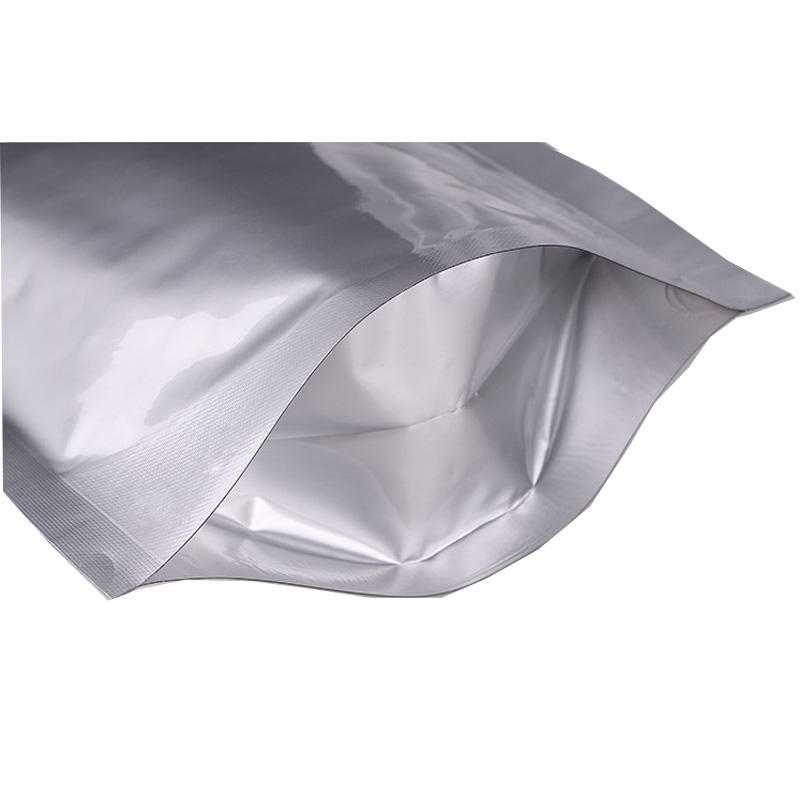 Factory Price zip lock heat sealed aluminum foil bag with tear notch