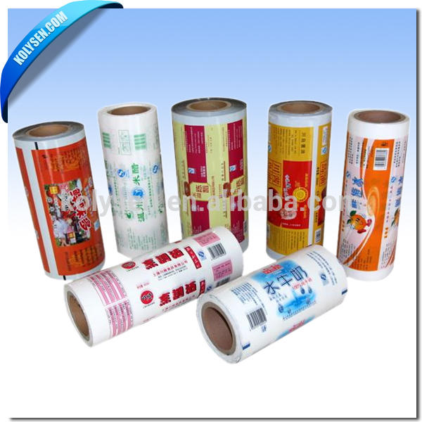 Custom roll packaging film for auto making tissue bags