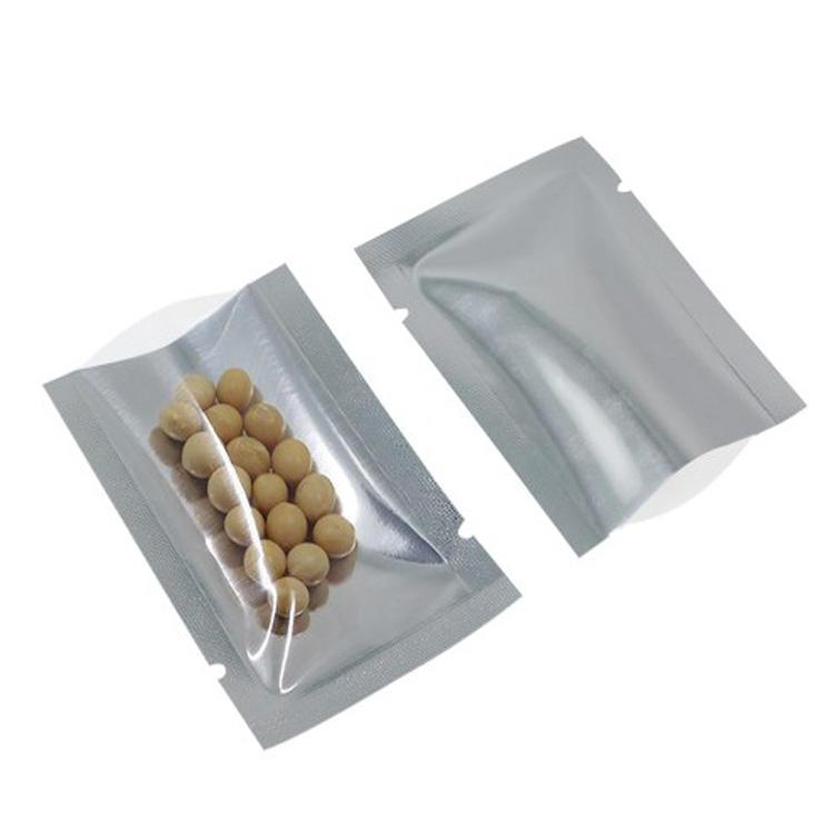top open aluminum foil bag heat sealing with clear window