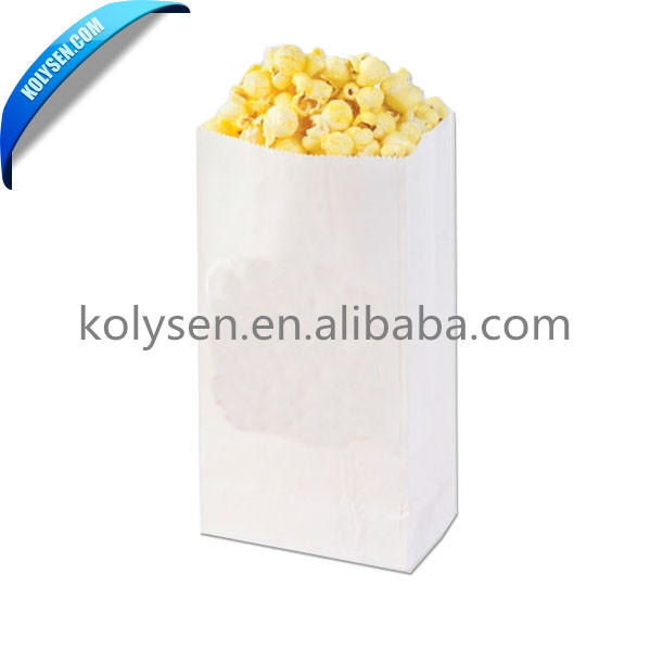 white color no printed microwave Popcorn Bags popcorn making