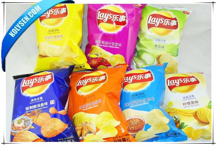 Snack Crisps printed plastic bags/ Snack plastic packaging bag for potato chips