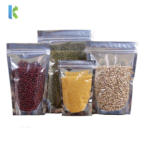 Aluminum Foil Ziplock Dried Fruit Packaging Bags/Pouches with Half Clear Front