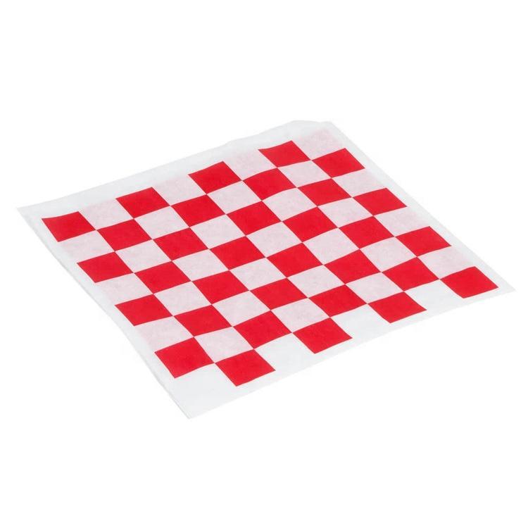 Custom logo printed food grade wrapping paper/burger wrapper
