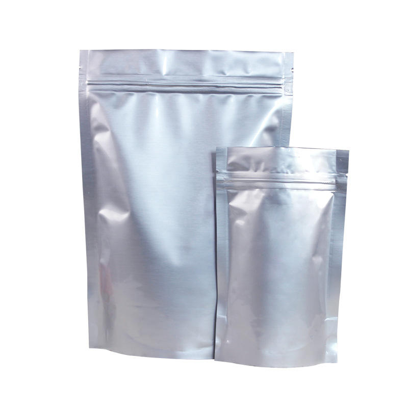 custom printed silver grip seal mylar bags