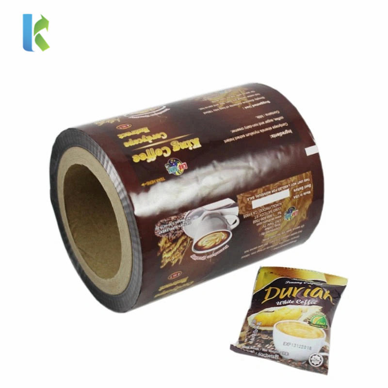 Kolysen Customized Logo printed Food Packaging Plastic Auto Packing Film Roll for Snack