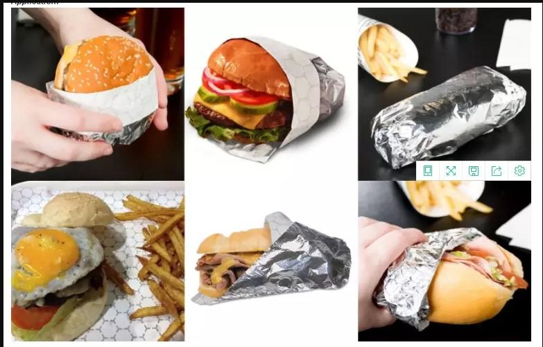 CustomizedHamburger/Sandwich Wrapping Papers material aluminum foil paper