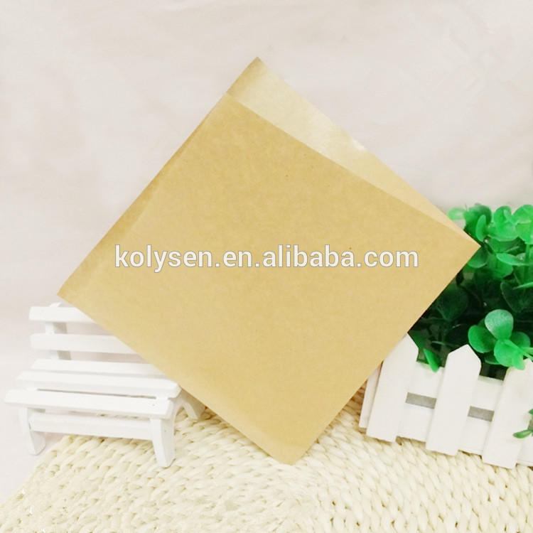 two sides open kraft take away paper bag for bread/burger food wrapping