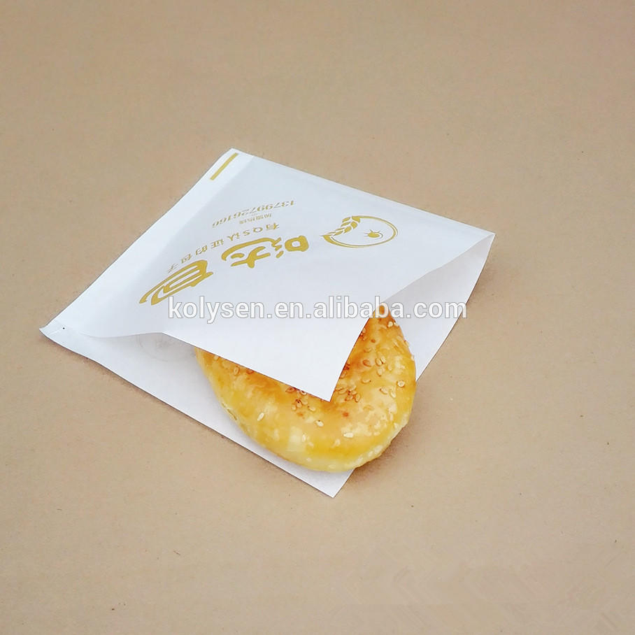 15 By 15 Cm Triangle Oil Proof Coated Paper Burger/bread Wrapping Bag