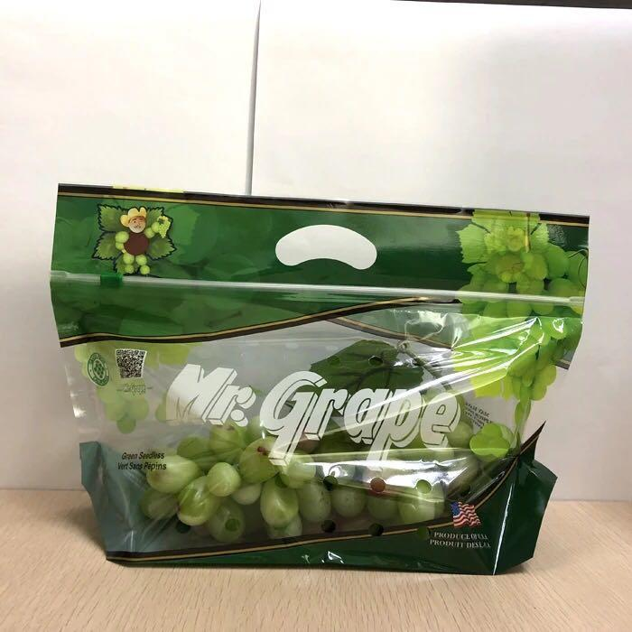 Custom print slider ziplock perforated fresh grape packaging bag