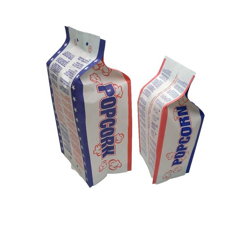 Custom printed food grade heat sealable reflective film to microwave bags popcorn paper bag China supplier