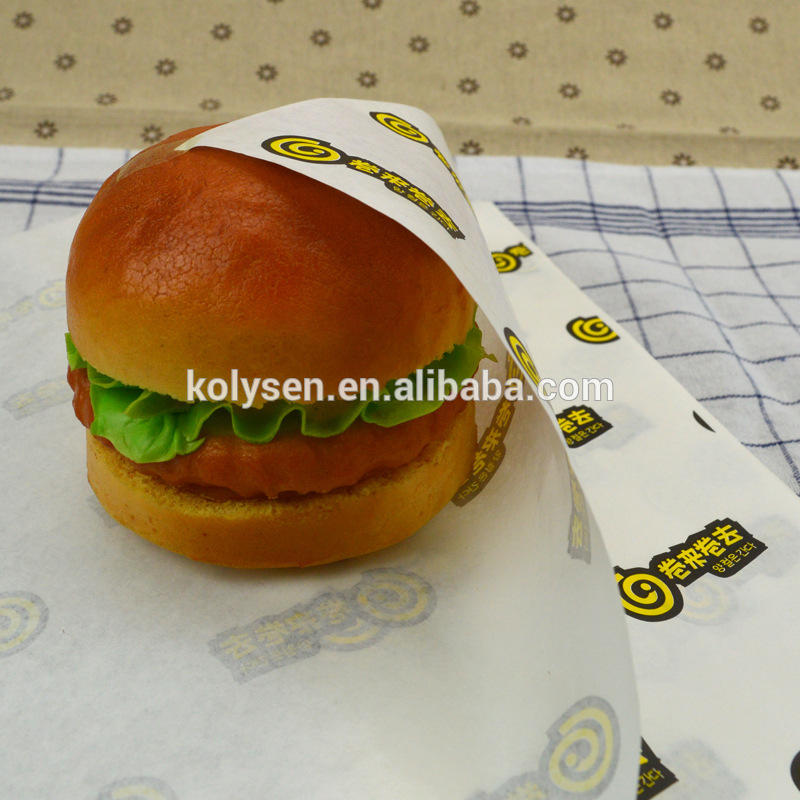 Branded food grade grease proof paper sheet 300x300mm