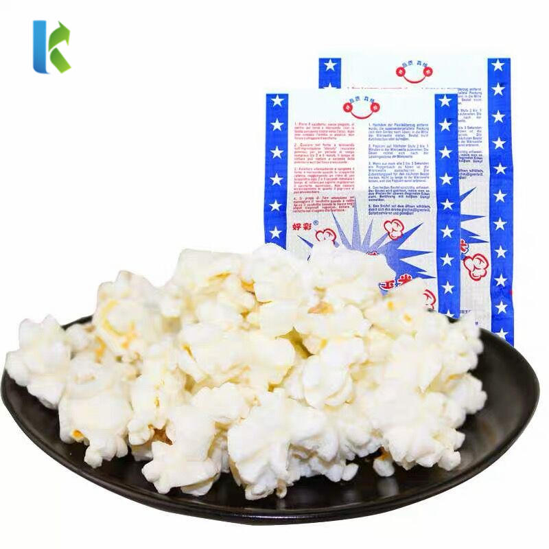 Logo Large Greaseproof ParaSealable Factory Microondas Bolso New Corn Bulk Wholesale Packaging For Popcorn