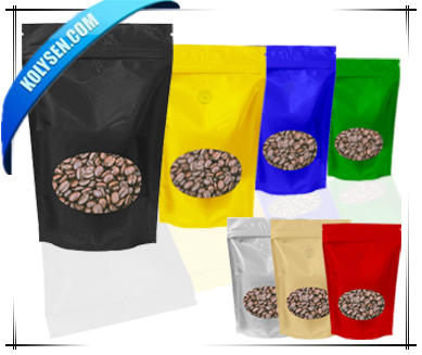 Laminated food grade Aluminium Foil Stand Up Pouches with Valve