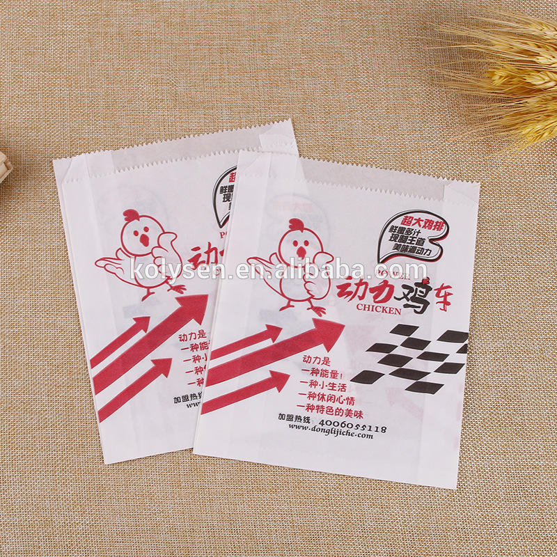 High quality Printed fried chicken paper bag