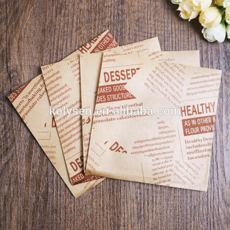 Custom printed Churro wrapping brown kraft paper triangle bags
