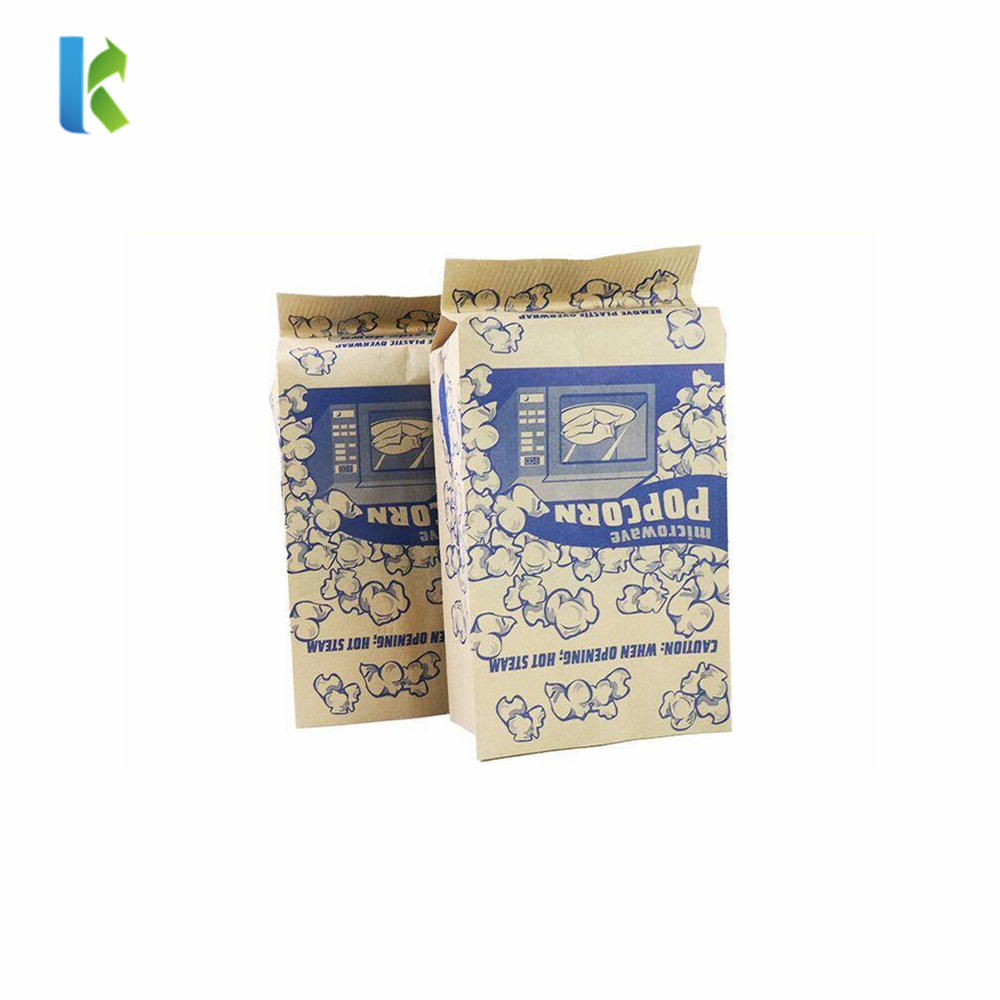 Bulk Logo New Para MicroondasCorn Factory Sealable Large Greaseproof Sealable Bolso Wholesale Craft Popcorn Packaging