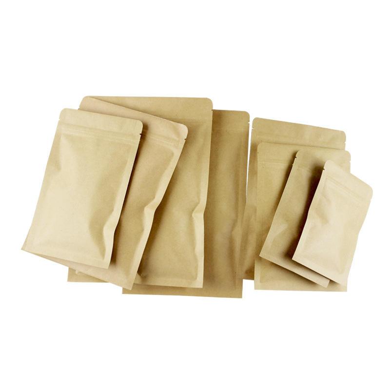 13cm by 21cm brown flat kraft paper bag for cookie packaging