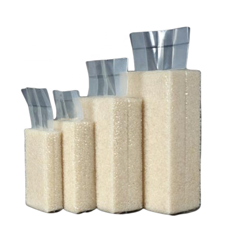 Factory customized empty rice bags for sale rice plastic vacuum bag