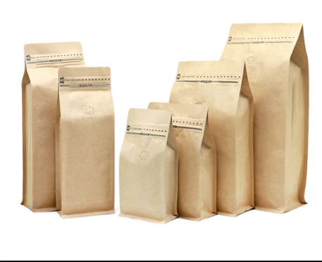 custom printed kraft paper stand up Coffee bean Pouch/Bag with Valve