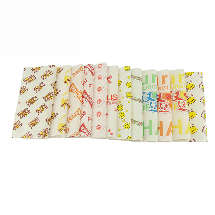 Printable food grade burger sandwich wrapping paper