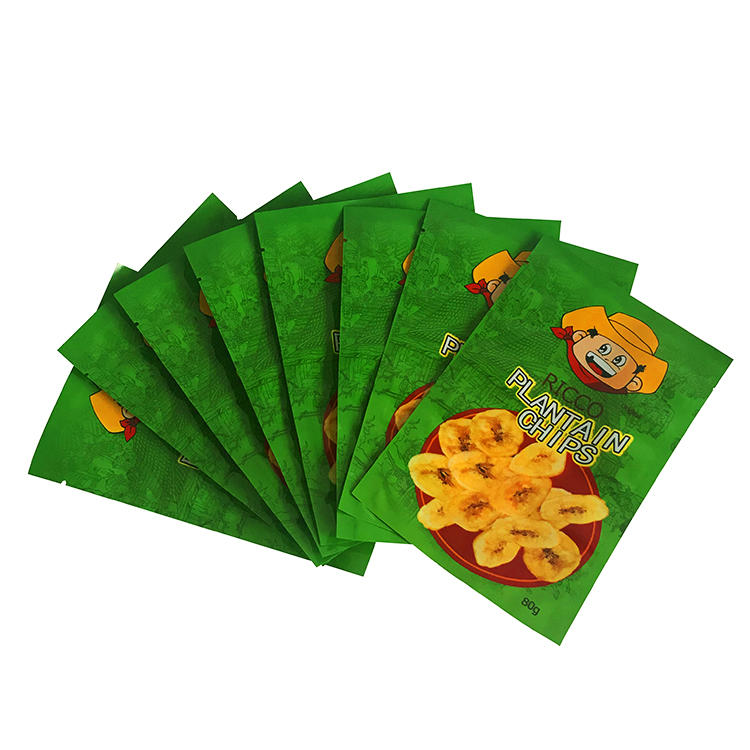 Aluminum foil lined plastic plantain potato chips packaging bags