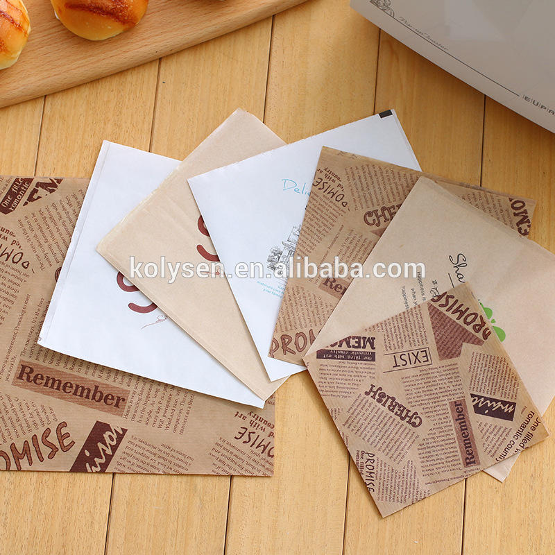 Donut packaging greaseproof triangle kraft paper pockets