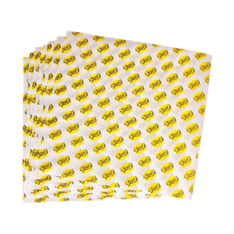 Deli food wrapping paper sheet