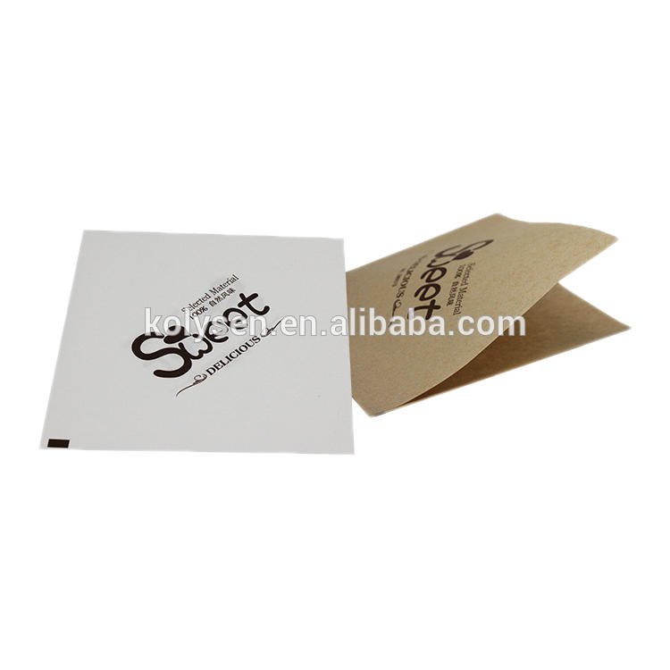 KOLYSEN Custom printedfood grade greaseproof paper bag Triangle oil proof burger wrap pocket with printed Wholesale
