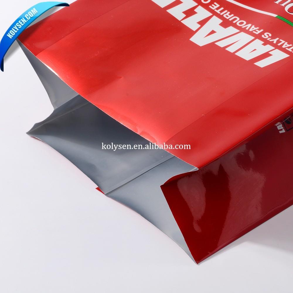 Aluminum foil coffee bag with custom printing