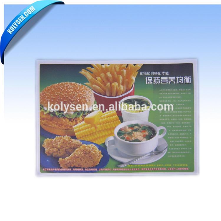 Custom printed food grade burger tray liners