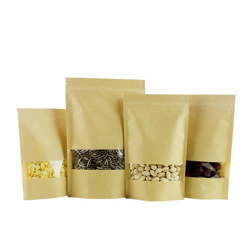 Wholesale Brown Craft Paper Bags with Window