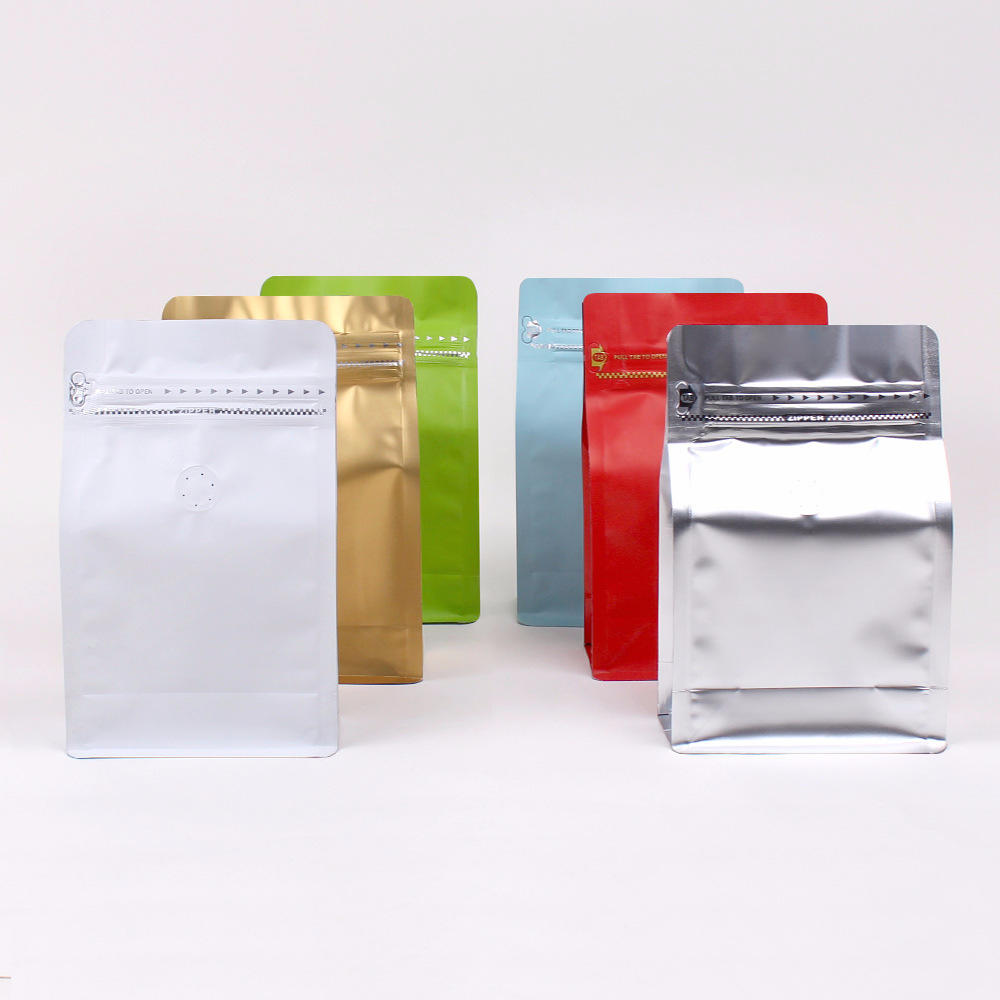 Custom printing Resealable Flat BottomCoffee Bag With Valvemade in china