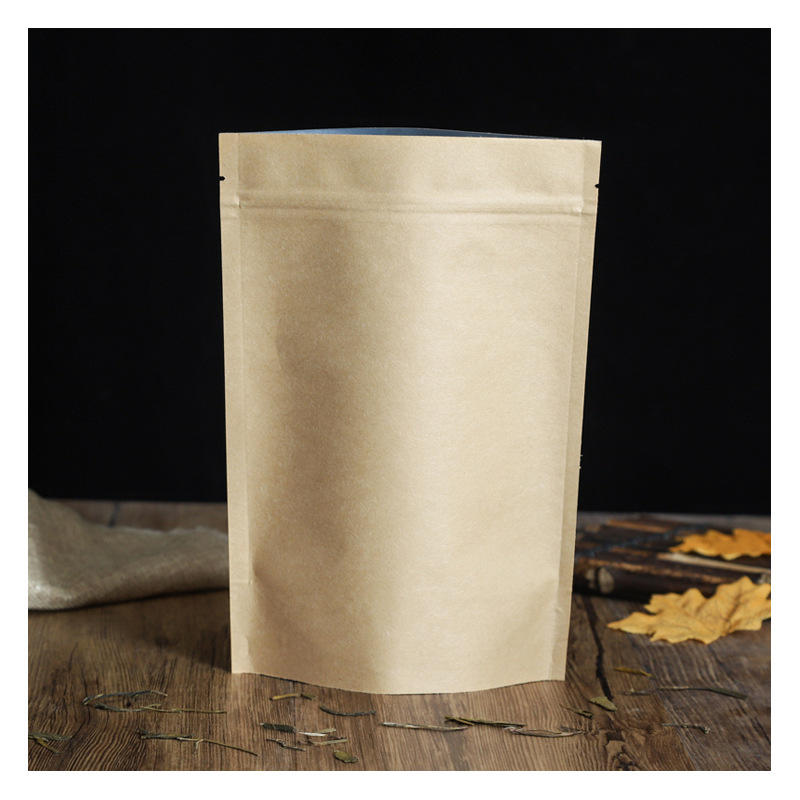 Standup Ziplock Bags Pouches Aluminum Inside for Dry Food Packaging