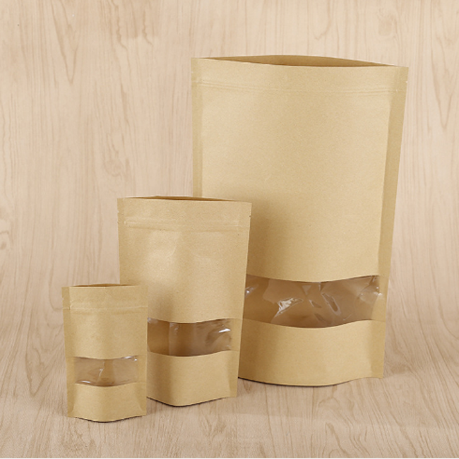 Quick Delivery China Packaging Paper Bag Craft With Clear Window