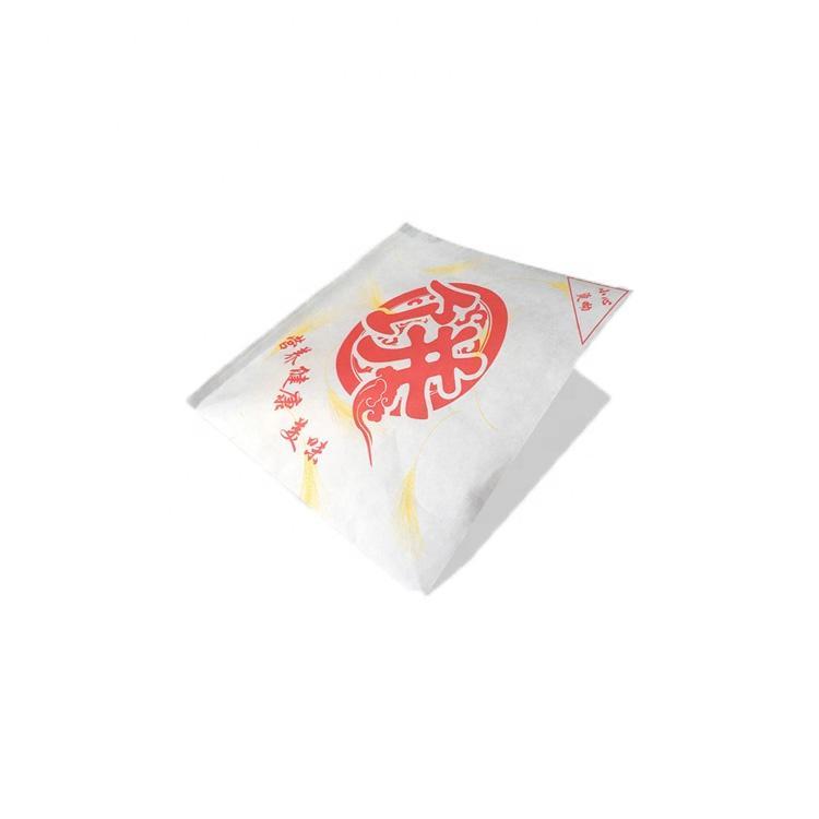 KOLYSENCustom printed food grade greaseproof Brown PE coated paper pocket for food wrapping Wholesale
